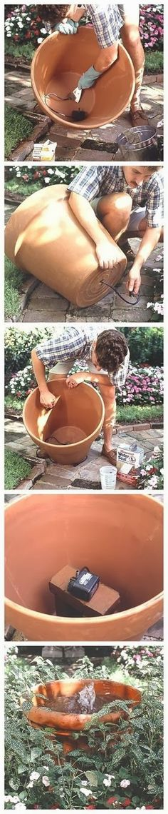 Fountain in a Pot // Garden Plans #springfever