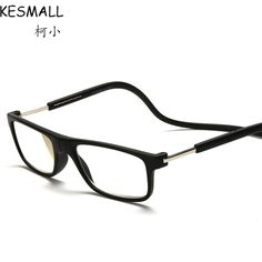 4cceb95a36 2017 Magnetic Reading Glasses Men Women Hanging Neck Folding Reader Glasses  Presbyopic Eyeglass Gafas De Lectura leesbril YJ909-in Reading Glasses from  ...