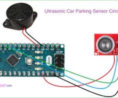 Car Reverse Parking Sensor Circuit Reverse Parking, Arduino Board, Circuit Diagram, Buzzer, Plastic Case, Car, Automobile, Autos, Cars