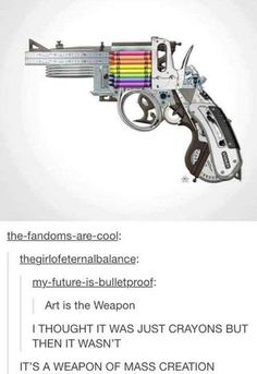 This is almost disappointing!! 8 thought it was a regular gun that shot crayons!!!