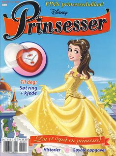 Cover for Disney Prinsesser (Hjemmet / Egmont, 1999 series) Cinderella Disney, Disney Princesses, Disney Characters, Beauty And The Best, Belle Beauty And The Beast, Comics Story, Princesas Disney, Ink Color, Cover
