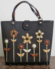 Enid Collins Bag 1960s Les Fleurs Jeweled by TheThriftingMagpie, $100.00