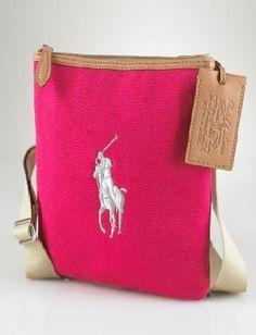 NWT Polo Ralph Lauren Women Handbag Shoulder Cross Body 4 Colors