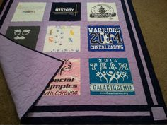 20 T-shirts quilt. Graduation quilt, with personalization. Memory quilt.  Twin size quilt, approx. 64''x 79''or larger