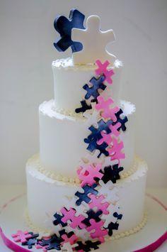 puzzle wedding cake - Google Search