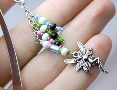 Beaded Bookmark - Fairy Beaded Bookmark - Seed Beaded Book Mark. $5.95, via Etsy.
