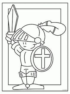 Kleurplaten ridder