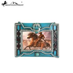 Turquoise Texture Resin Photo Frame