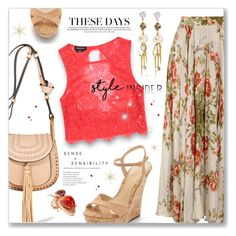 """""""Some inspiration :)"""" by dressedbyrose ❤ liked on Polyvore featuring Gucci, Chloé, Schutz, Bebe, Daniela Villegas, Erickson Beamon and polyvoreeditorial"""