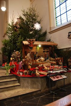 Kerststal in de Kloosterkapel van de  Kapucijnen in Breda
