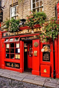 The Temple Bar & Pub in Dublin, Ireland by Lu Marins Oh The Places You'll Go, Places To Travel, Travel Destinations, Dublin Pubs, London Pubs, Dublin Nightlife, Dublin Bay, London City, Ireland Travel