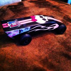 Monster high pinewood derby car