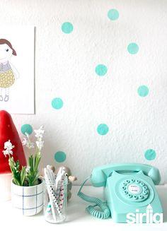 Crea Decora Recicla by All washi tape Trendy Wallpaper, New Wallpaper, Interior Walls, Home Interior, Party Accessories, Decorative Accessories, Color Menta, Danish Style, Beautiful Interior Design