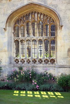 Castle-like Kings College Cambridge University with its beautiful iron-framed windows!