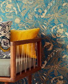 Design Trends From Milan Design Week Floral Patterns Plant Wallpaper, Fabric Wallpaper, Wallpaper Roll, Pattern Wallpaper, Milan Design, Design Trends, Decor Interior Design, Interior Decorating, Wallpaper Warehouse