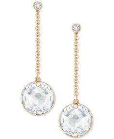 Swarovski Crystal Drop Ear Jacket Earrings | macys.com