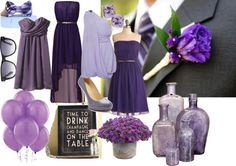 """Purple and Grey Wedding"" by acade on Polyvore"