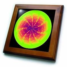 """Abstract Orb by Angelandspot - 8x8 Framed Tile by Cassie Peters. $22.99. Dimensions: 8"""" H x 8"""" W x 1/2"""" D. Solid wood frame. Cherry Finish. Keyhole in the back of frame allows for easy hanging.. Inset high gloss 6"""" x 6"""" ceramic tile.. Abstract Orb by Angelandspot Framed Tile is measuring 8w x 8h x .75d. Made of solid wood with predrilled keyhole for easy wall mounting. Framed tile comes with 6w x 6h ceramic gloss tile attached to the wood frame.. Save 15% Off!"""