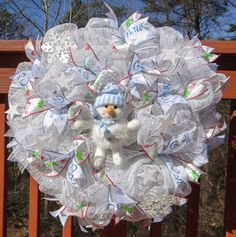 Check out this item in my Etsy shop https://www.etsy.com/listing/263416359/winter-wonderland-deco-mesh-wreath