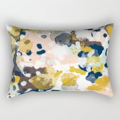 Sloane - abstract painting gender neutral baby nursery dorm college decor Rectangular Pillow by CharlotteWinter - Small x 1 Baby Nursery Neutral, Gender Neutral Baby, Modern Throw Pillows, Back Pillow, Down Pillows, Dorm, Art Prints, Abstract, Room Ideas