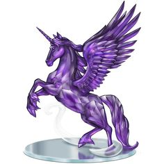 Blake Jensen Magic of the Amethyst Purple Unicorn Figurine on Mirror... ($2,358) ❤ liked on Polyvore featuring home, home decor, mirrors, unicorn home decor, purple mirror, purple home decor, unicorn figure and unicorn figurines
