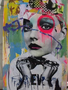 This is cool and contemporary using graffiti over a models face, this could be a method I use for my final outcome.