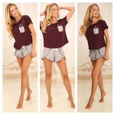Ожидается поступление новых замечательных моделей женских пижам из хлопка от ТМ Violet deLux. Встречайте совсем скоро в интернет-магазине relish.com.ua Home Look, Ua, Lingerie, Crop Tops, Women, Fashion, Moda, Women's, Lingerie Set