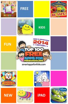 Top 100 FREE Apps for Preschoolers! (every free preschool app you need to know about) http://www.smartappsforkids.com/top-10-free-apps-1.html