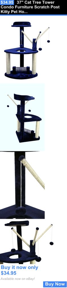 Animals Cats: 37 Cat Tree Tower Condo Furniture Scratch Post Kitty Pet House Play Furniture BUY IT NOW ONLY: $34.95