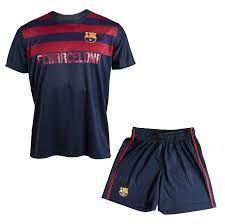 08f9684b5ac  Ensemble Maillot + short Barça - Collection officielle FC BARCELONE - Taille  enfant garçon