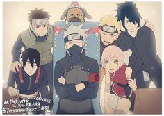 Yamato Taichou, Sai, Pakkun, Kakashi Sensei, Narto, Sakura e Sasuke #Time7