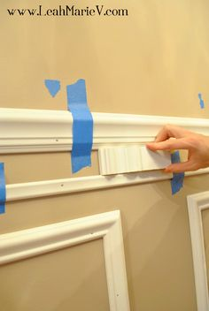 DIY Picture Frame Molding ...do I want this or do I stick with the bead board in the kitchen? Maybe use this in the bathroom.