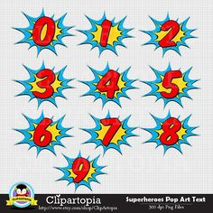 Super Hero Balloons - Numbers