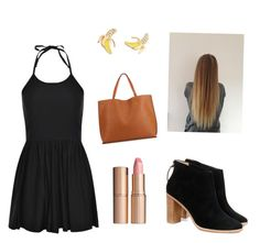 """""""black"""" by hcumins ❤ liked on Polyvore featuring Kate Spade, Boohoo, Ted Baker and Charlotte Tilbury"""