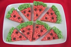 Watermelon Krispie Slices#Repin By:Pinterest++ for iPad#