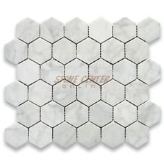 Carrara White 2 inch Hexagon Mosaic Tile Polished