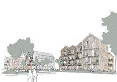 Reichstett — Reiulf Ramstad Architects The Good Place, Coastal, The Neighbourhood, Architects, Landscape, Nature, Montages, Design, Sketch