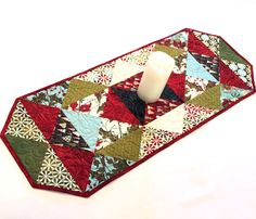 Christmas Quilted Table Runner - Figgy Pudding by Basic Grey for Moda Table…
