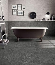 Pietra grigio 30x60 Clawfoot Bathtub, Bathroom, Home, Blog, Ideas, Modern, Washroom, House, Bathrooms