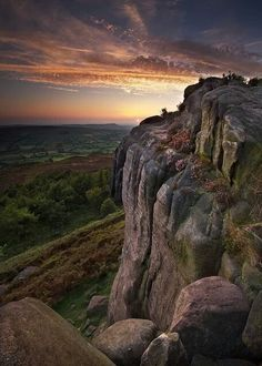 Day's end in the Peak District, England