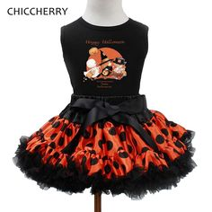 >> Click to Buy << 2016 Happy Halloween Costume For Baby Girl Clothes Kids Tops + Lace Tutu Skirt Girls Clothing Sets Halloween Outfits Toddlers #Affiliate