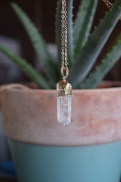 Quartz Crystal Necklaces with Rose Gold - Shop handmade boho and Earth-inspired jewelry by ColbieGirl Jewelry, on Etsy! https://www.etsy.com/shop/ColbieGirlJewelry -------- Crystal Necklaces, Crystal Jewelry, Raw Crystal, Healing Crystals, Handmade Jewelry, Electroformed Jewelry, Copper Jewelry, Boho Jewelry, Boho Fashion