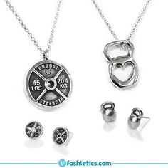 Fitness Jewelry #christmas #fitness #gift #accessories #jewelry #weightlifting #kettlebells #presents #sterlingsilver #earrings #necklaces
