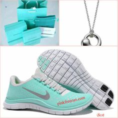 Nike Free 3.0 V4 Tiffany Blue Tiffany & CO Necklace. Love these shoes