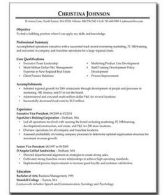Resume Examples For Executive Summary With Management