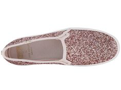 2b9aebda87 Keds x kate spade new york Triple Decker KS Glitter Women s Shoes Rose Gold