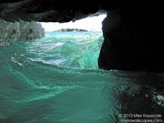 Looking Out of a Sea Cave at Waimea Bay
