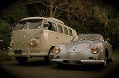 VW Microbus & Porsche 356 by Antonella Fanelli