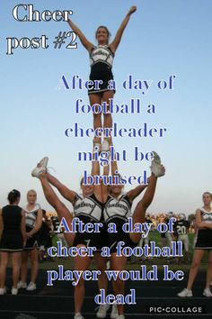 Easy Cheerleading Stunts, Cool Cheer Stunts, Cheer Tryouts, Cheerleading Cheers, Cheerleading Quotes, Cheer Athletics, Cheer Dance Routines, Cheer Practice, Cheer Flexibility