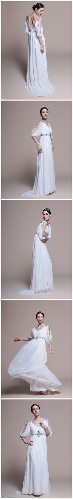 Love this! So flowy, and kind of reminds me of Princess Leia in a way...